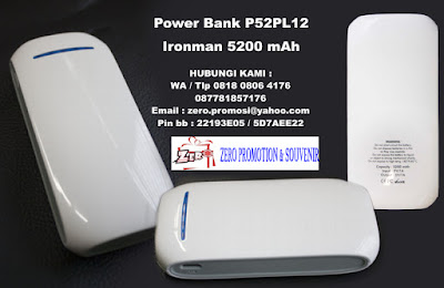 Power Bank P52PL12, Power Bank Ironman 5200 mAh, Powerbank 5.200mAh