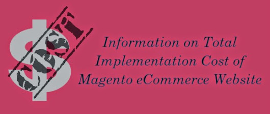 Information on Total Implementation Cost of Magento eCommerce Website ~ Magento Industry News
