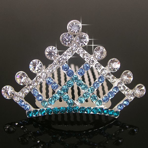 Beauty And Fashion Blue Diamond Tiara Crown
