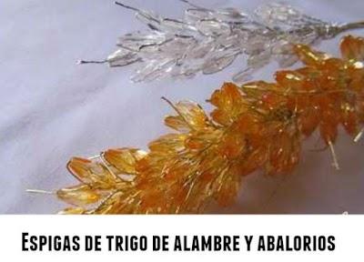 Espigas de trigo con alambre y cristales