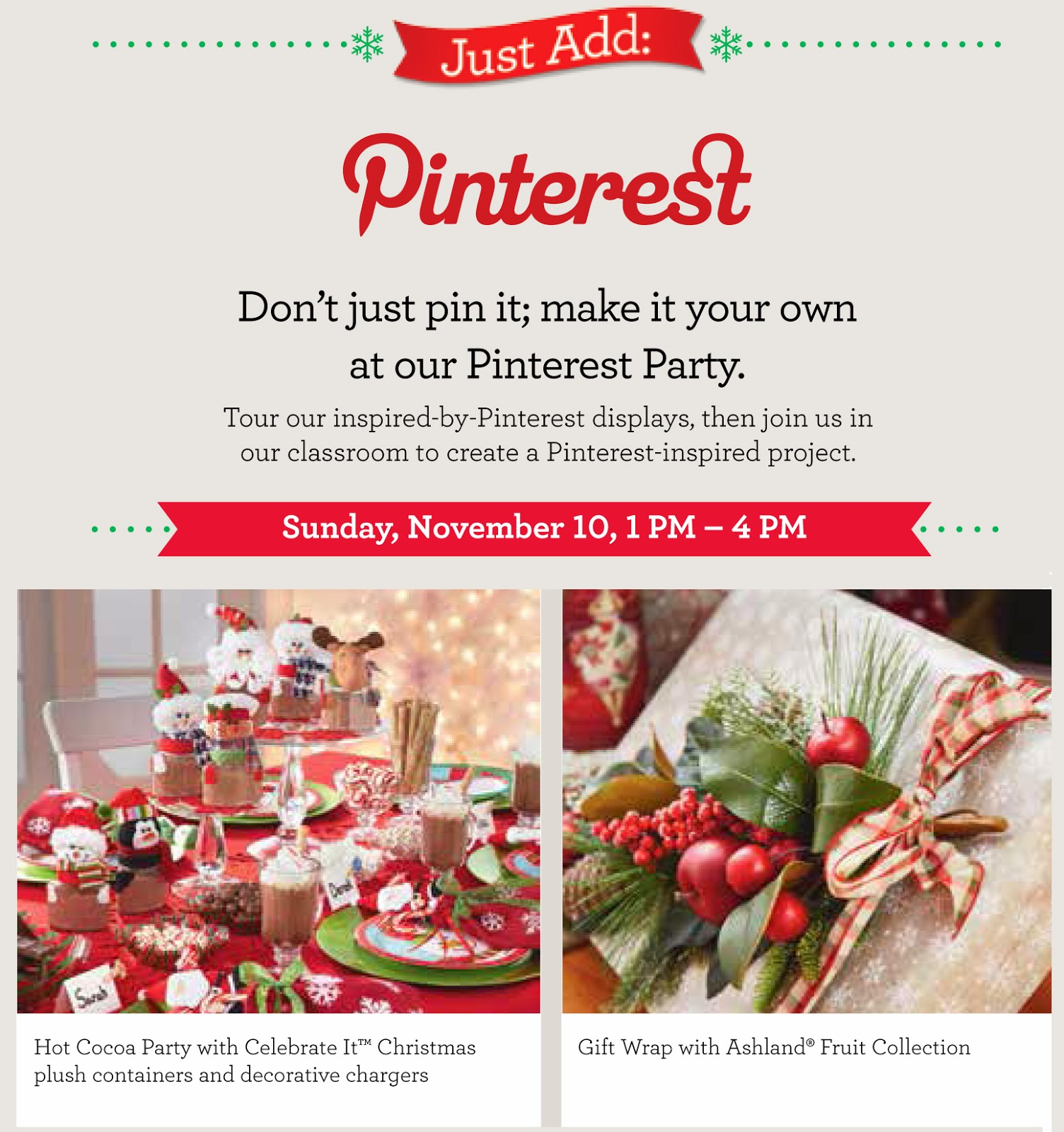 SCRAPS of (my) Life: Michaels Stores: Pinterest Party (Nov