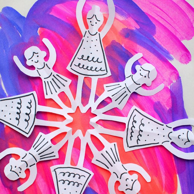 How to cut dancer snowflakes