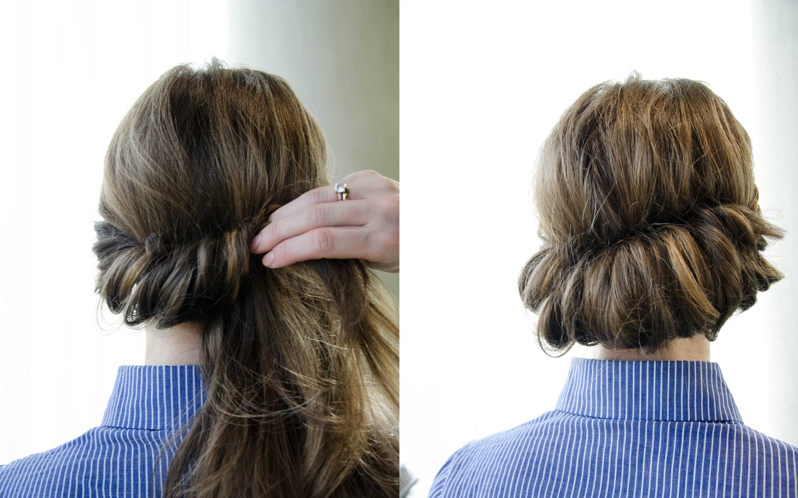 boho braided hair updo step by step tutorial