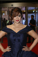Payal Ghosh aka Harika in Dark Blue Deep Neck Sleeveless Gown at 64th Jio Filmfare Awards South 2017 ~  Exclusive 085.JPG