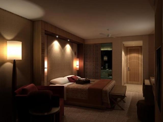 Bedroom Interior Design: Minimalist VS Light Effect Bedroom Interior Design: Minimalist VS Light Effect heavenly small bedroom with sweet bench idea and trendy wall light idea beside elegant bedboard design also foxy floor lamp idea