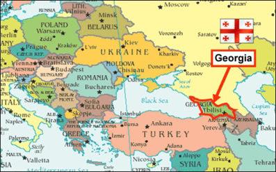 mappa georgia