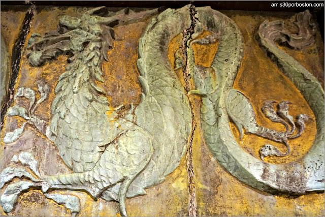 Decoración China en el Sótano de Marble House, Newport