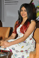 Bollywood Actress Adah Sharma Pos in White Printed Short Dress at OPPO F3 Plus Selfie Expert Mobile Launch .COM 0038.jpg