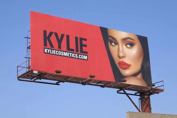 Kylie Cosmetics Fall 2018 billboard