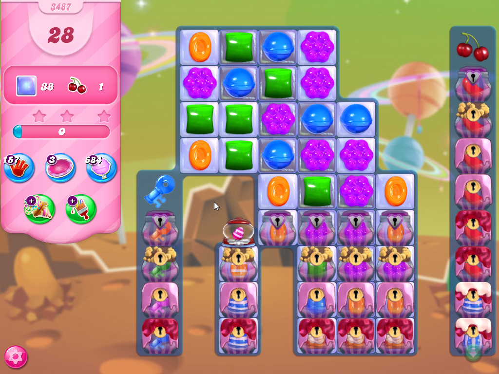 Candy Crush Saga level 3487