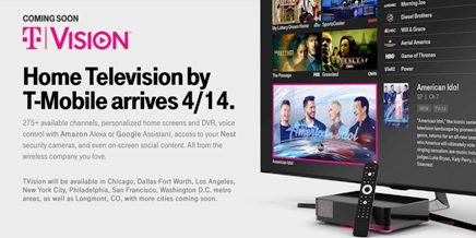 Tmobile Reintroduces Layer3 TV Service as TVision Home: T Mobile