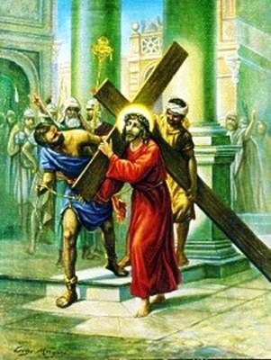 Viacrucis 2 - Jesus Carga Con Su Cruz