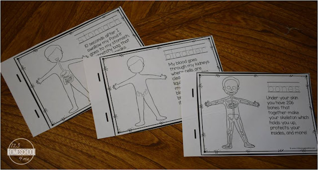free printable human body emergent reader