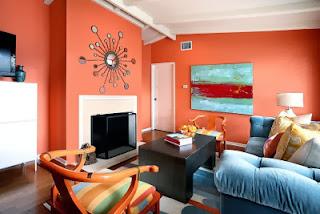 sala naranja celeste
