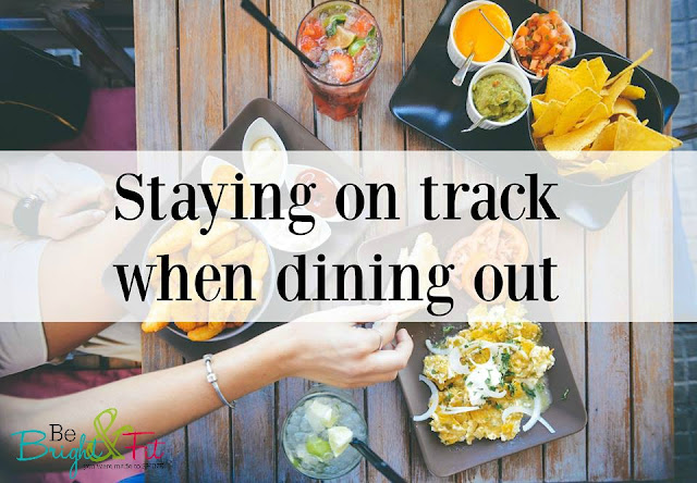 stay on track dining out