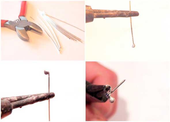 alfileres, alambre, wire, tutoriales,manualidades, diys, esmaltar