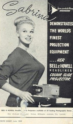 Sabrina demonstrates the world's finest projection equipment
