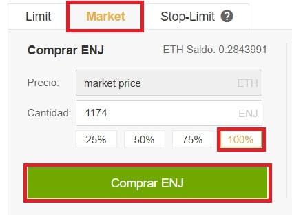 Comprar Enjin Coin (ENJ) Binance
