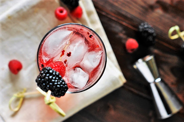Champagne Cobbler Cocktail with Fresh Berries Image