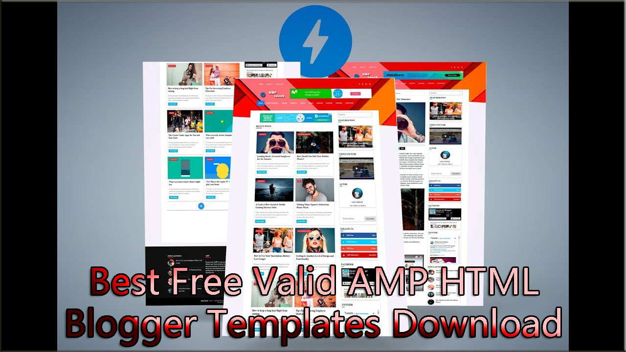 Best Free Valid AMP HTML Blogger Templates Download-Part2