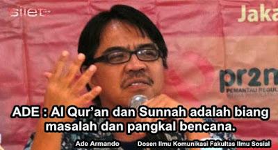 Ade Armando: Al Quran & Sunnah Adalah Biang Masalah dan Pangkal Bencana