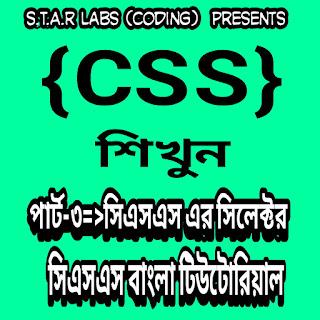 সিএসএস এর পার্ট-০৪|  সিএসএস এর সিলেক্টর | সিএসএস বাংলা টিউটোরিয়াল