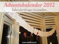 Adventskalender 2012 - kalenderslinger knutselen