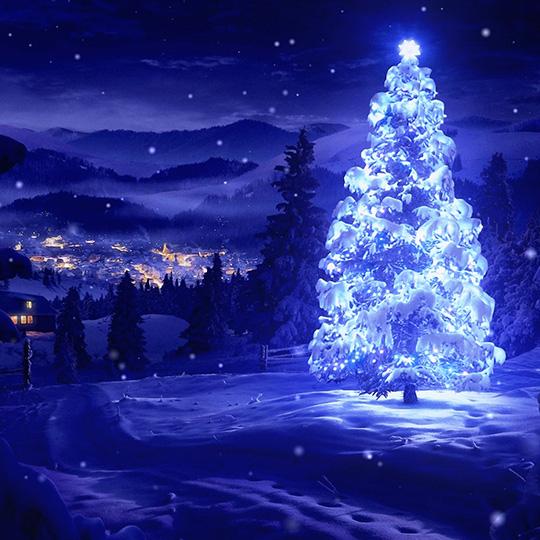 Christmas Frozen Tree Wallpaper Engine
