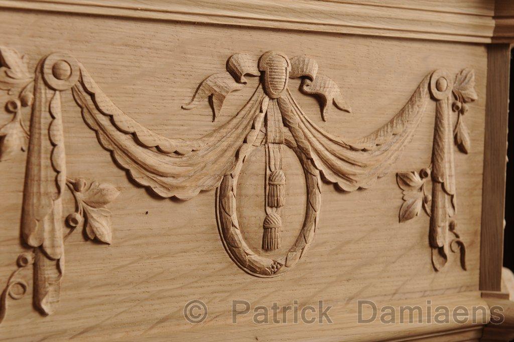 Ornamental woodcarver patrick damiaens wooden mantelpiece