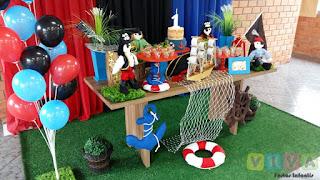 Decoração festa infantil Piratas Porto Alegre