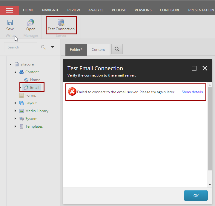 Sitecore Journey: Is You Custom SMTP Connection Not Working in