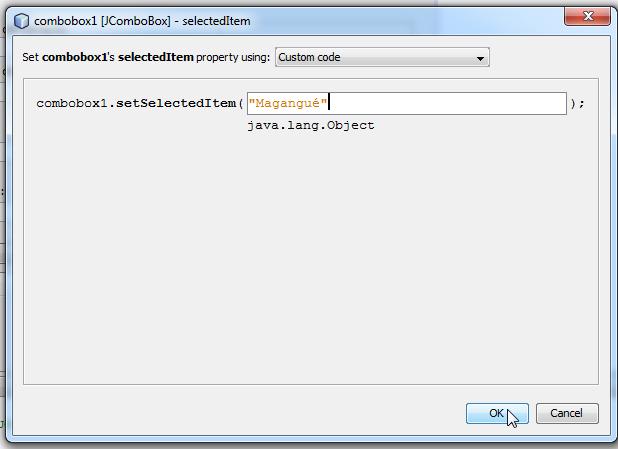 personalizando el código de nuestro combo box