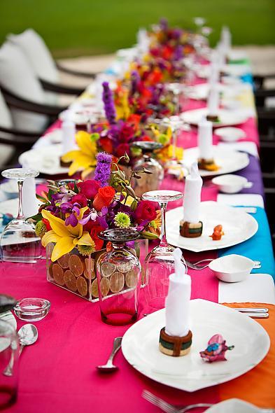 Weddinginstyle Colorful Wedding Theme