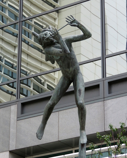 Angel Musician with Flute by Carl Milles, Thomas More Square, Wapping, London