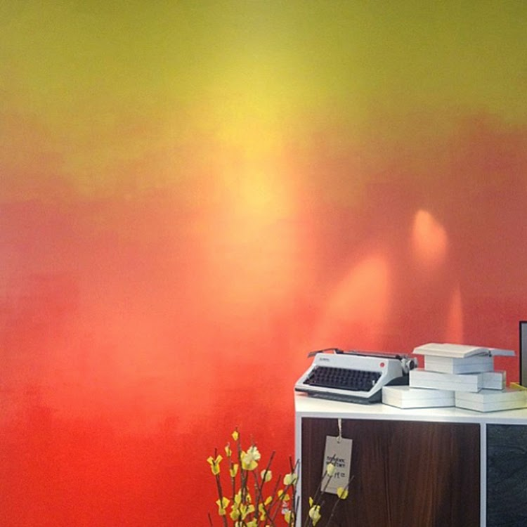 Sunset Ombre Paint Accent Wall: DIY Monday # Accent Wall
