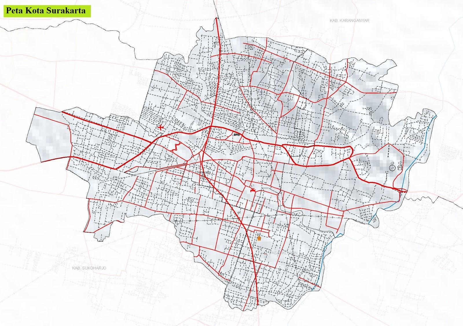 Peta Kota Surakarta HD