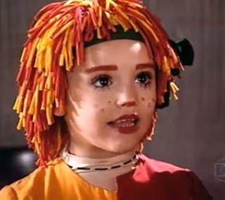 Isabelle Drummond se destacou em 2001, aos 7 anos, no papel de Emília do Sítio do Pica Pau Amarelo