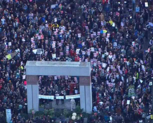 Protesta anti Trump en Seattle desató tiroteo con saldo de heridos