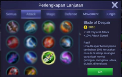 build item claude tersakit