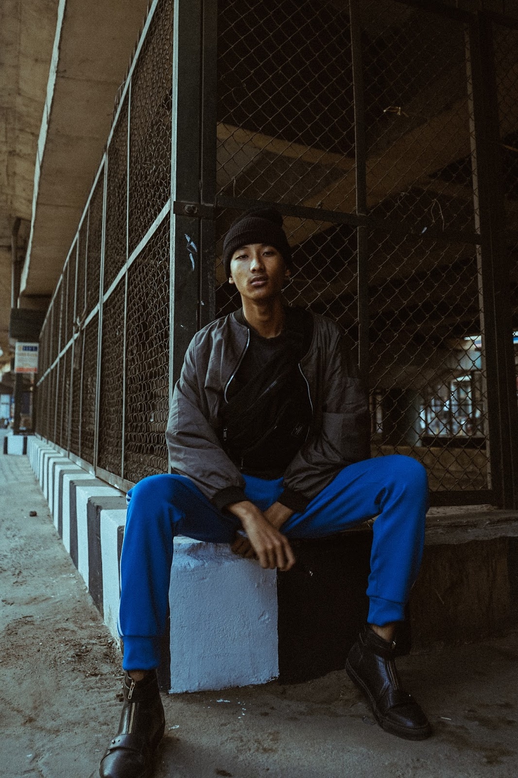 Thequirkyminimal by Kangkan Rabha, fashion model, Asian Male model, street style, Adidas Original pants, Koovs boots, editorial style, Menswear, Indian fashion blogger, Northeast India