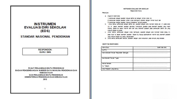 Instrumen EDS (Evaluasi Diri Sekolah) SMK