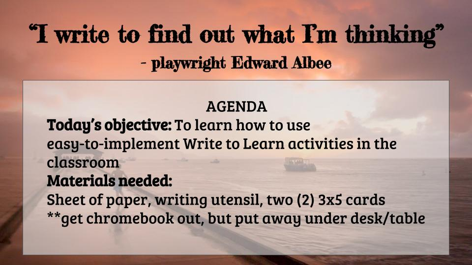 The Compelled Educator: Low-prep ways to incorporate writing ...