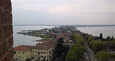 View of Sirmione looking south from the Castello Scaligero.