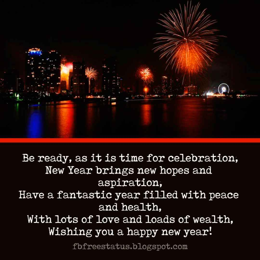 Wishes for the New Year, Quotes, Messages, Greeting and New Year Wishes Images.