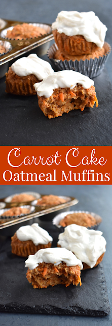 Carrot cake oatmeal muffins recipe