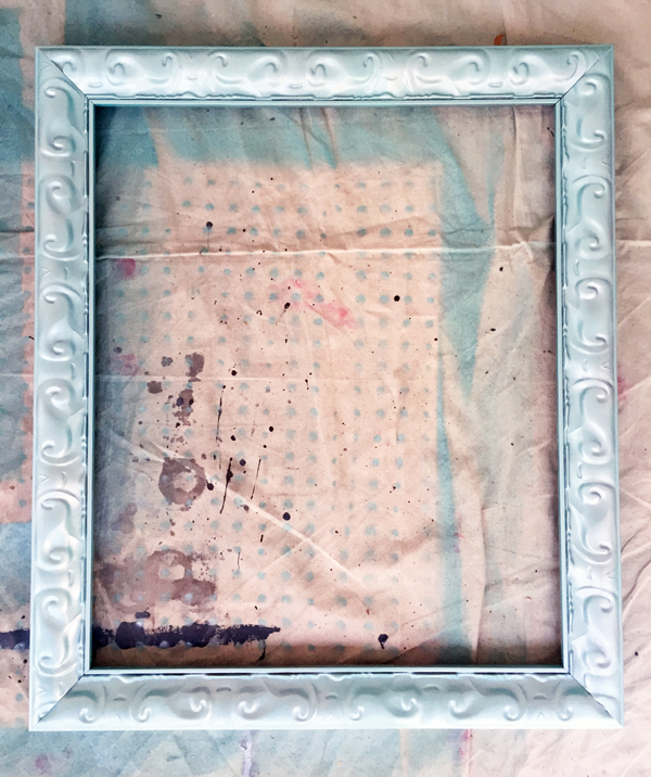 Diy With Style Framed Paint Brush Art Blue I Style Creating An
