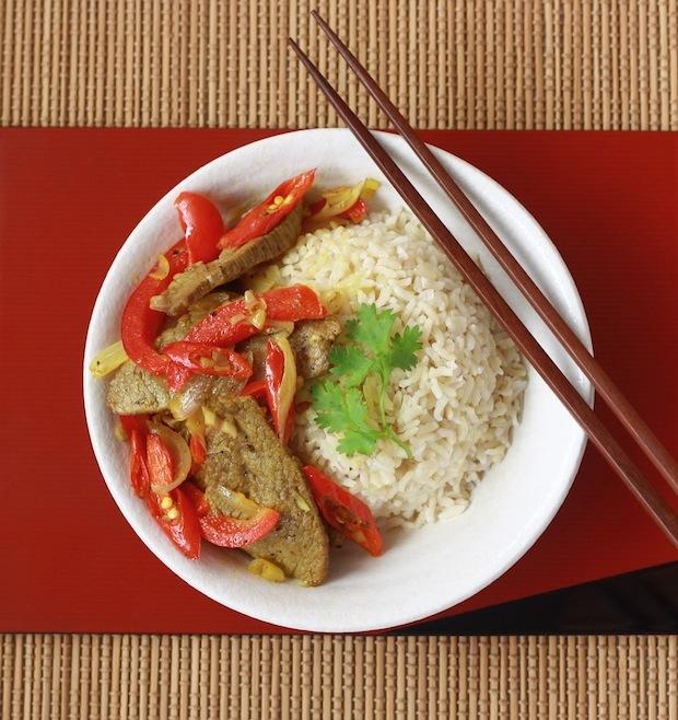 Vietnamese Beef Stir-Fry with Lemongrass & Chili recipe by SeasonWithSpice.com