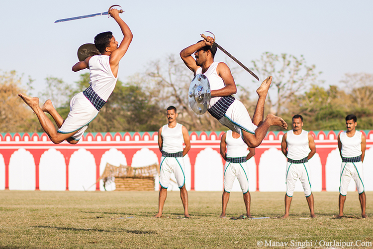 Kalaripayattu by the Troopers of BSF at Jaipur