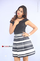 Actress Mi Rathod Pos Black Short Dress at Howrah Bridge Movie Press Meet  0047.JPG