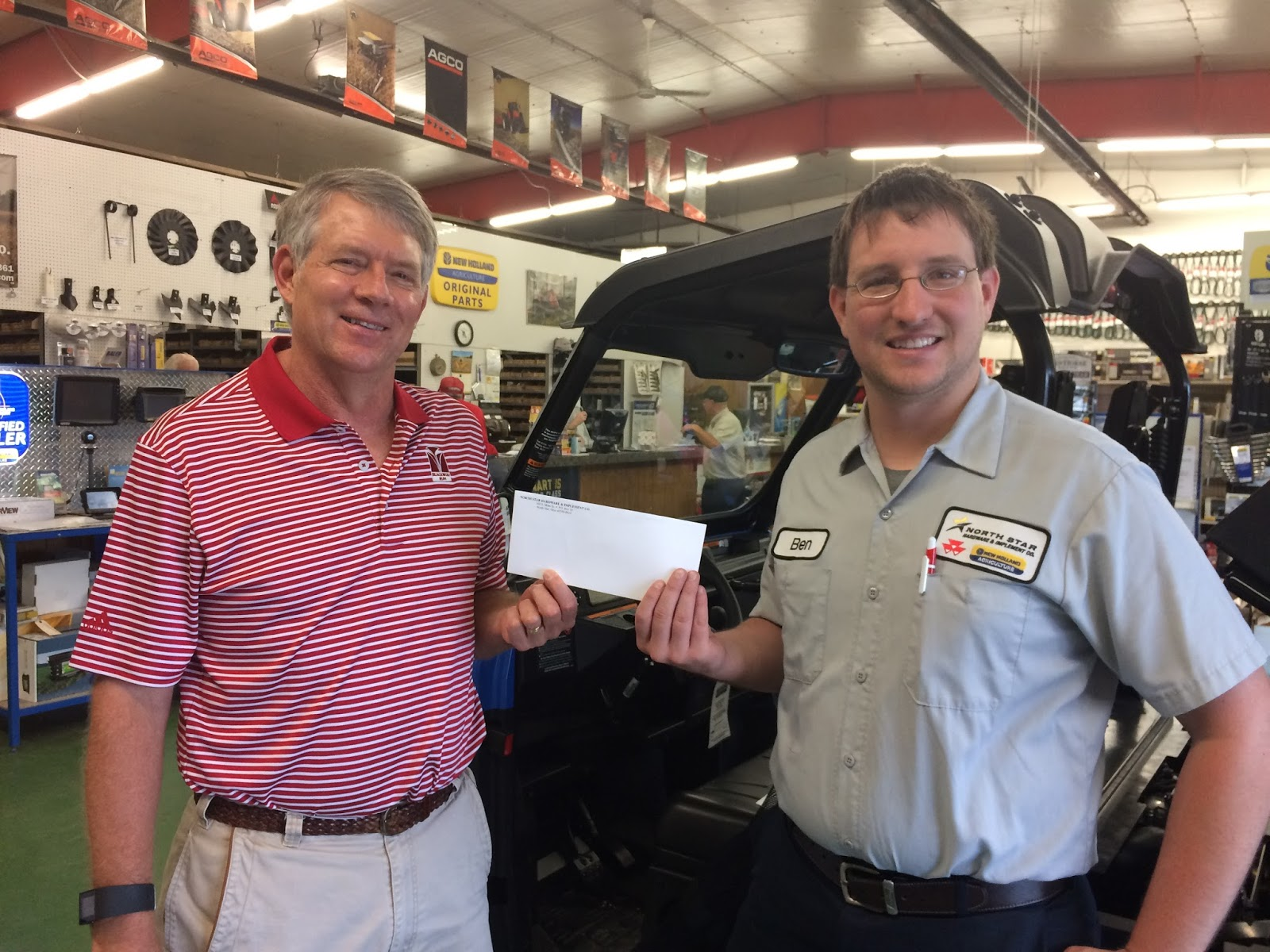 Ohio darke county north star - Ben Selhorst Of North Star Hardware Implement Co Is Shown Giving A Donation To Steve Litchfield Financial Officer For Darke Co Special Olympics